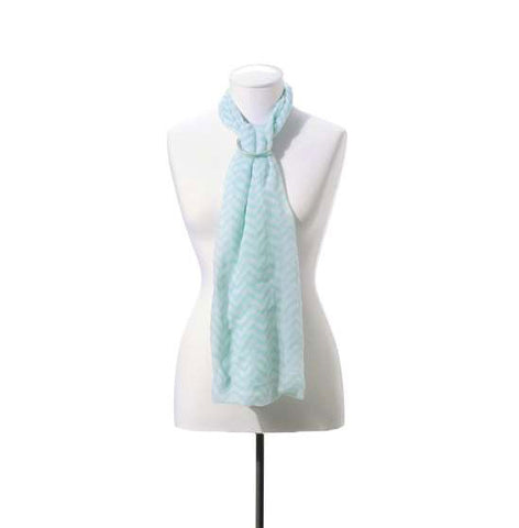 Sea Foam Green Iconic Chevron Scarf
