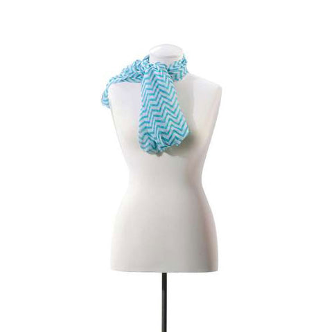 Teal Iconic Chevron Scarf