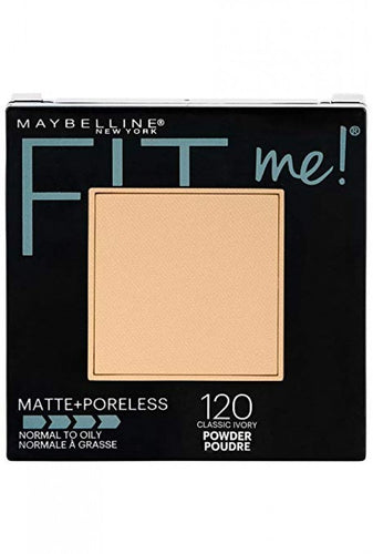 Maybelline Fit Me Matte Poreless Face Powder 120 Classic Ivory