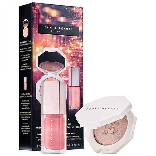 FENTY BEAUTY BY RIHANNA Bomb Baby 2 Mini Lip Gloss and Highlighter Set