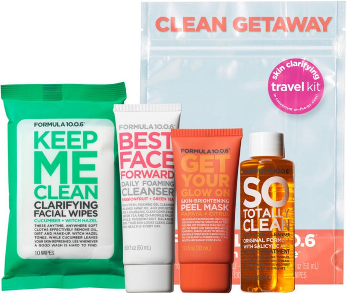 PENDING Formula 10.0.6Clean Getaway Skin Clarifying Travel Kit