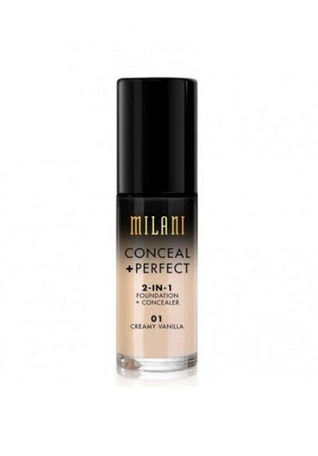 MILANI FOUNDATION CONCEAL PERFECT 2-IN-1 FOUNDATION 01 CREAMY VANILLA