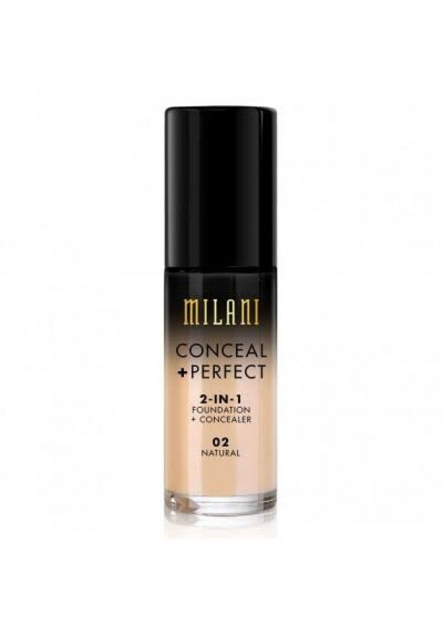 MILANI FOUNDATION CONCEAL PERFECT 2-IN-1 FOUNDATION 02 NATURAL