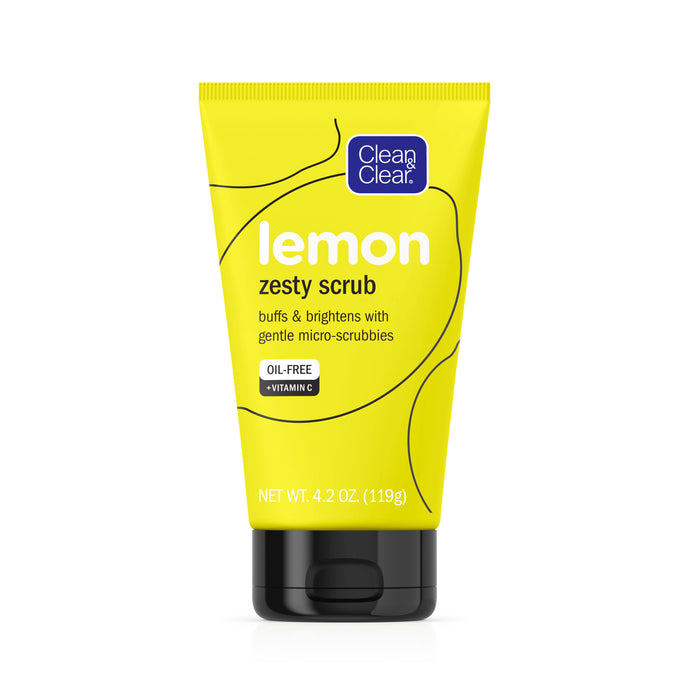 Clean And Clear Lemon Zesty Oil Free Face Scrub with Vitamin C