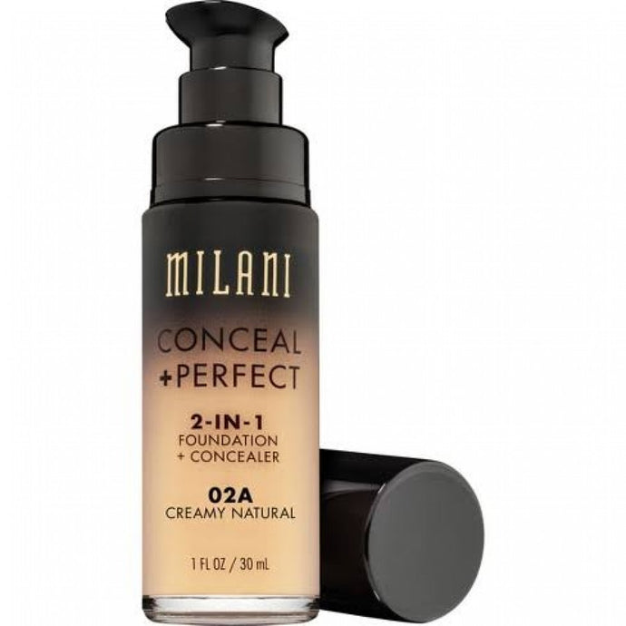 MILANI FOUNDATION CONCEAL PERFECT 2-IN-1 FOUNDATION 02A CREAMY NATURAL