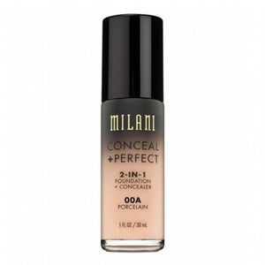 MILANI FOUNDATION CONCEAL PERFECT 2-IN-1 FOUNDATION 00A PORCELAIN