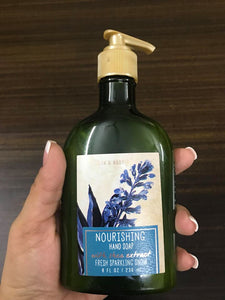 BATH AND BODY WORKS NOURISHING HAND SOAP FRESH SPARKING SHOW