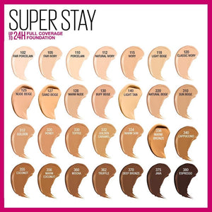 MAYBELLINE SUPER STAY FULL COVERAGE FOUNDATION 105 FAIR IVORY