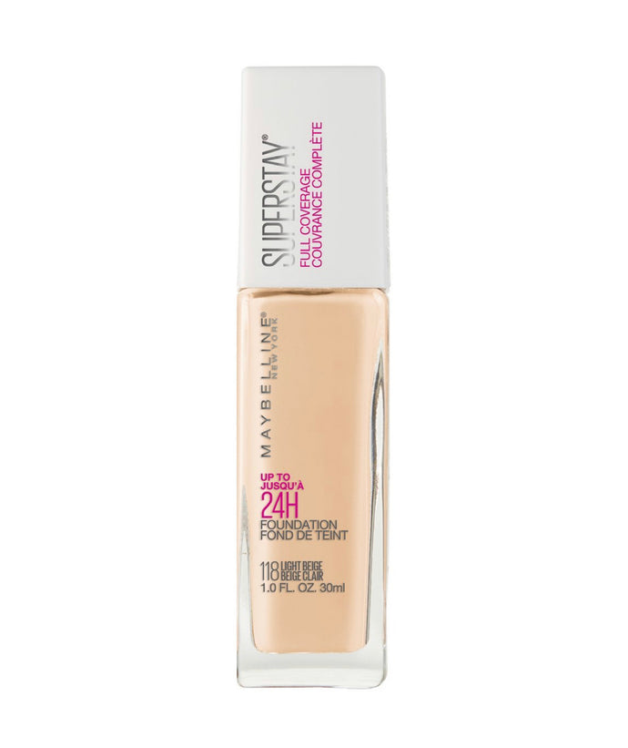 MAYBELLINE SUPER STAY FULL COVERAGE FOUNDATION 118 LIGHT BEIGE
