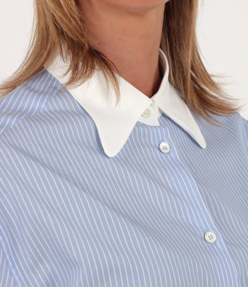 Camicia con colletto a punta