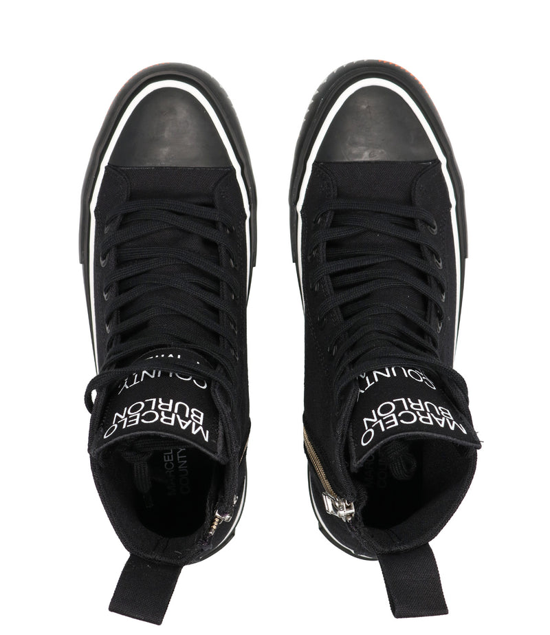Sneakers Tape High Vulcanized Nera