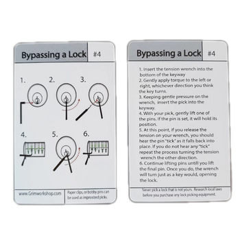 #4 Lock Picking Instruction and Tip Card - Proud Libertarian