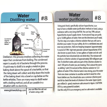 #8 Water Tip Card (Distilling and purifying Water) - Proud Libertarian