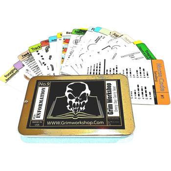 20 piece weatherproof survival and emergency tip card kit - Proud Libertarian