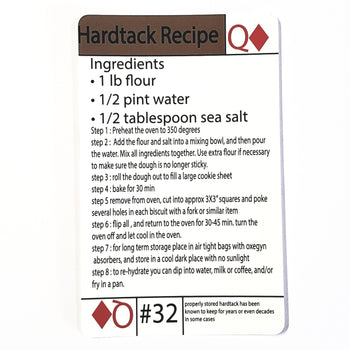#32 Hardtack Recipe Tip Card - Proud Libertarian