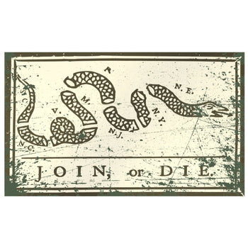 Join or Die Vintage Flag (Two-Sided) - Proud Libertarian