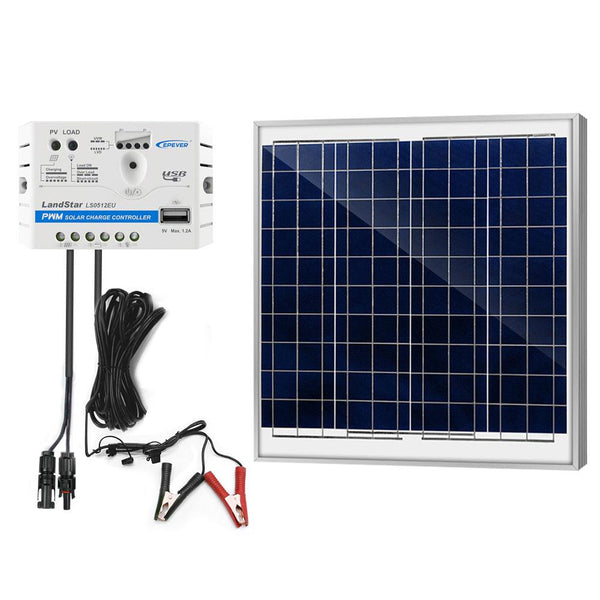 60W 12V Solar Charger Kit, 5A Charge Controller with Alligator Clips by ACOPOWER - Proud Libertarian