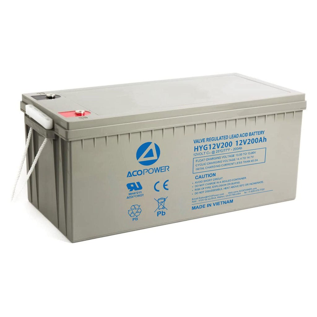 HYG12-200Ah Rechargeable Gel Deep Cycle 12V 200Ah Battery by ACOPOWER - Proud Libertarian