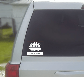 Libertarian Party Porcupine Vinyl Window Decal - Proud Libertarian