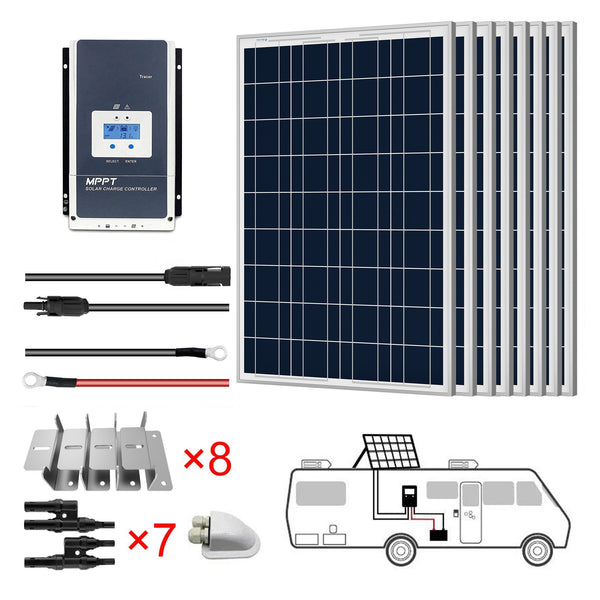 8x100W 12V Poly Solar RV Kits, 60A MPPT Charge Controller (800W 60A) by ACOPOWER - Proud Libertarian