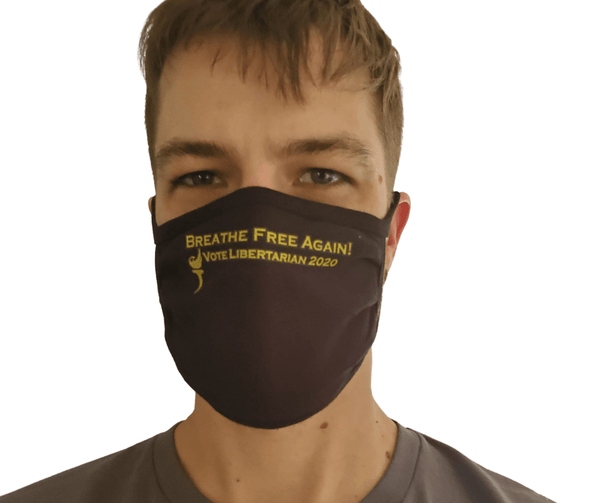 Breathe FREE again - Vote Libertarian Face Mask - Proud Libertarian