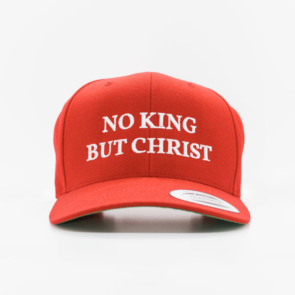AnarchoChristian - No King But Christ Snapback Hat - Proud Libertarian
