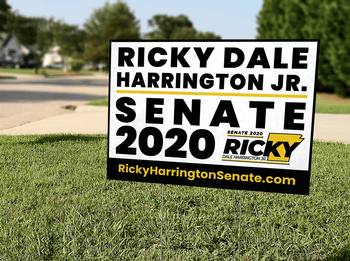 Ricky Dale Harrington Jr for US Senate 2020 Yard Sign 18