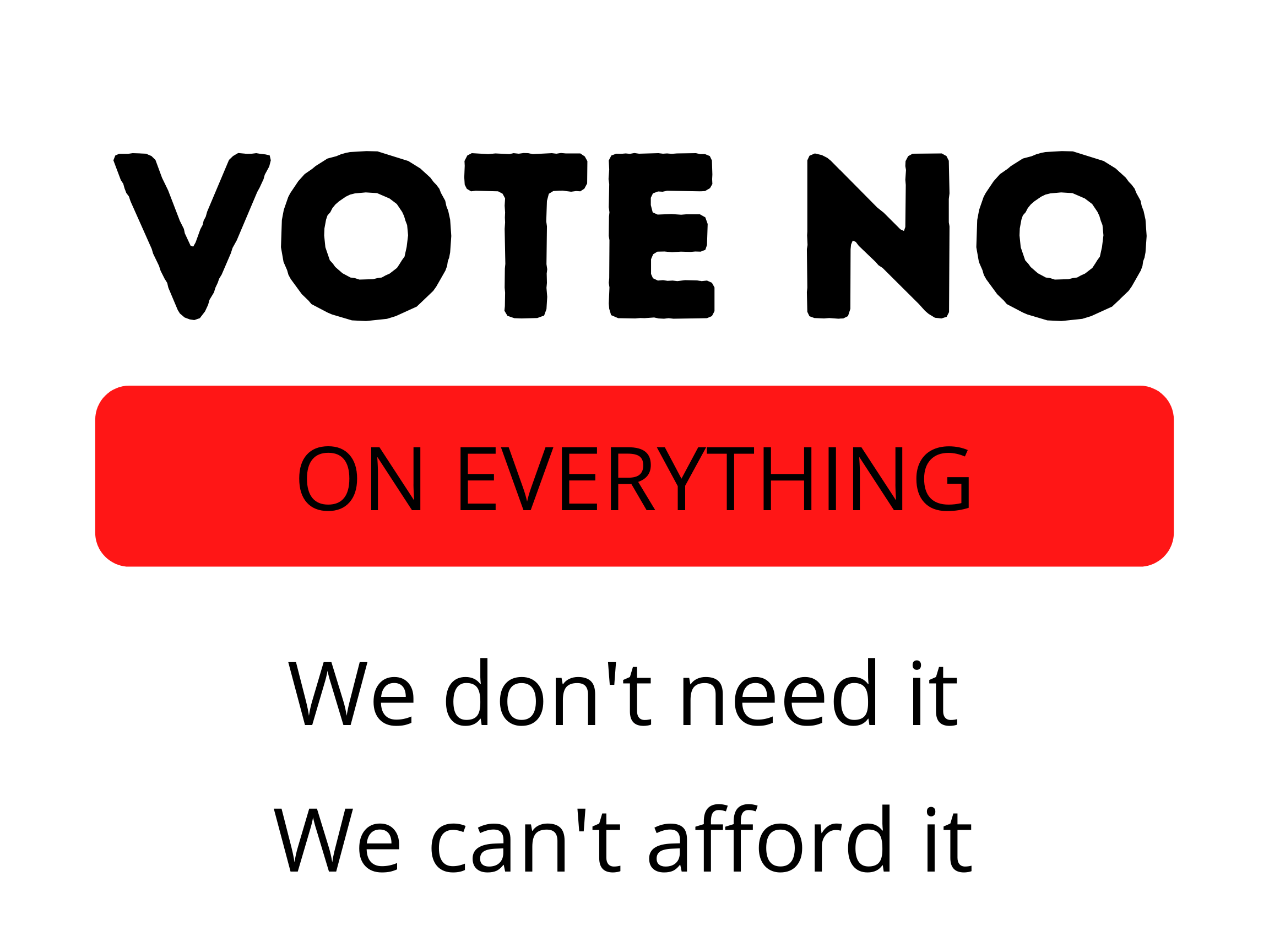 Vote No On Everything - Proud Libertarian