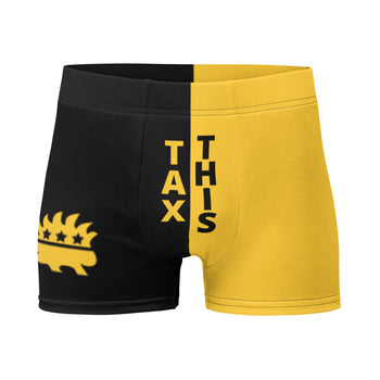Tax This Ancap Porcupine Boxer Briefs - Proud Libertarian