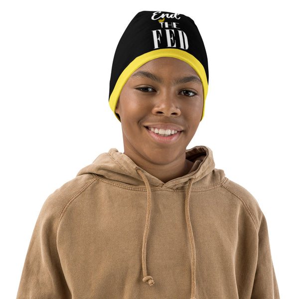 End The Fed All-Over Print Kids Beanie - Proud Libertarian