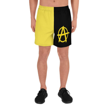 Ancap Yellow Anarchy Men's Athletic Shorts - Proud Libertarian