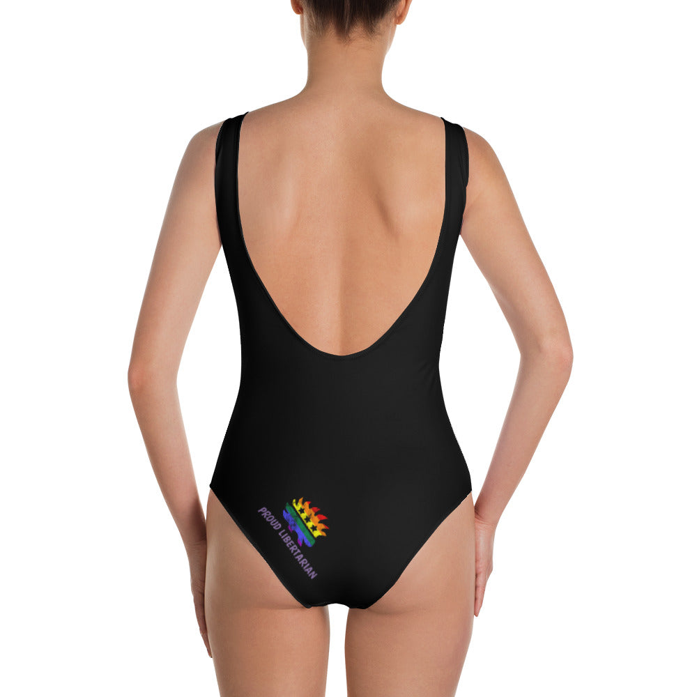 LGBT Pride Porcupine One-Piece Swimsuit - Proud Libertarian