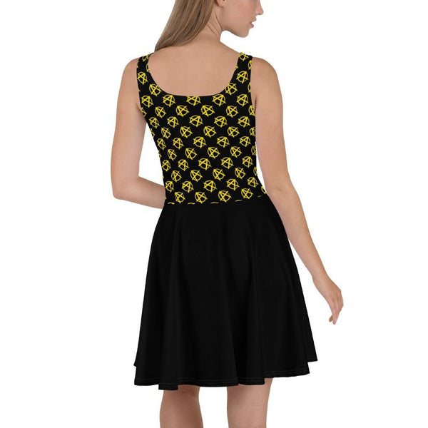 Ancap Anarchy Skater Dress (Black) - Proud Libertarian