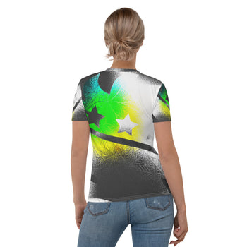 Porcupine Cannabis Grafitti Women's T-shirt - Proud Libertarian
