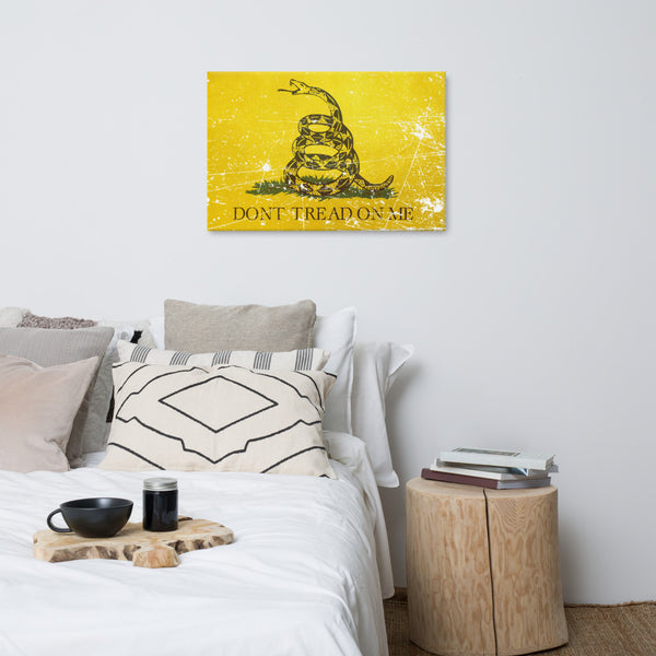 Don't Tread on Me Canvas Print - Proud Libertarian