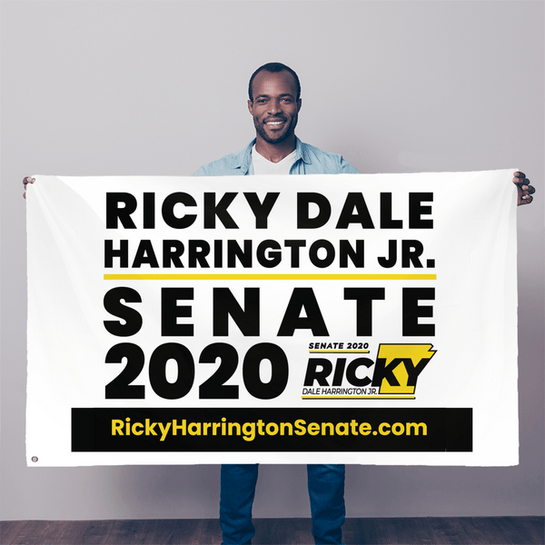 "Ricky Harrington for US Senate 2020 Wall Flag - 36""x60"" - Proud Libertarian"