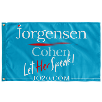 Let Her Speak Jo Jorgensen 2020 Flag - Proud Libertarian