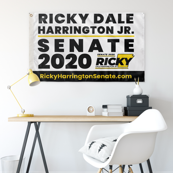 Ricky Harrington for US Senate 2020 Wall Flag - 36