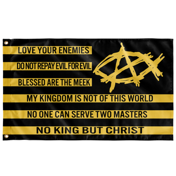AnarchoChristian - No King But Christ Flag - Proud Libertarian