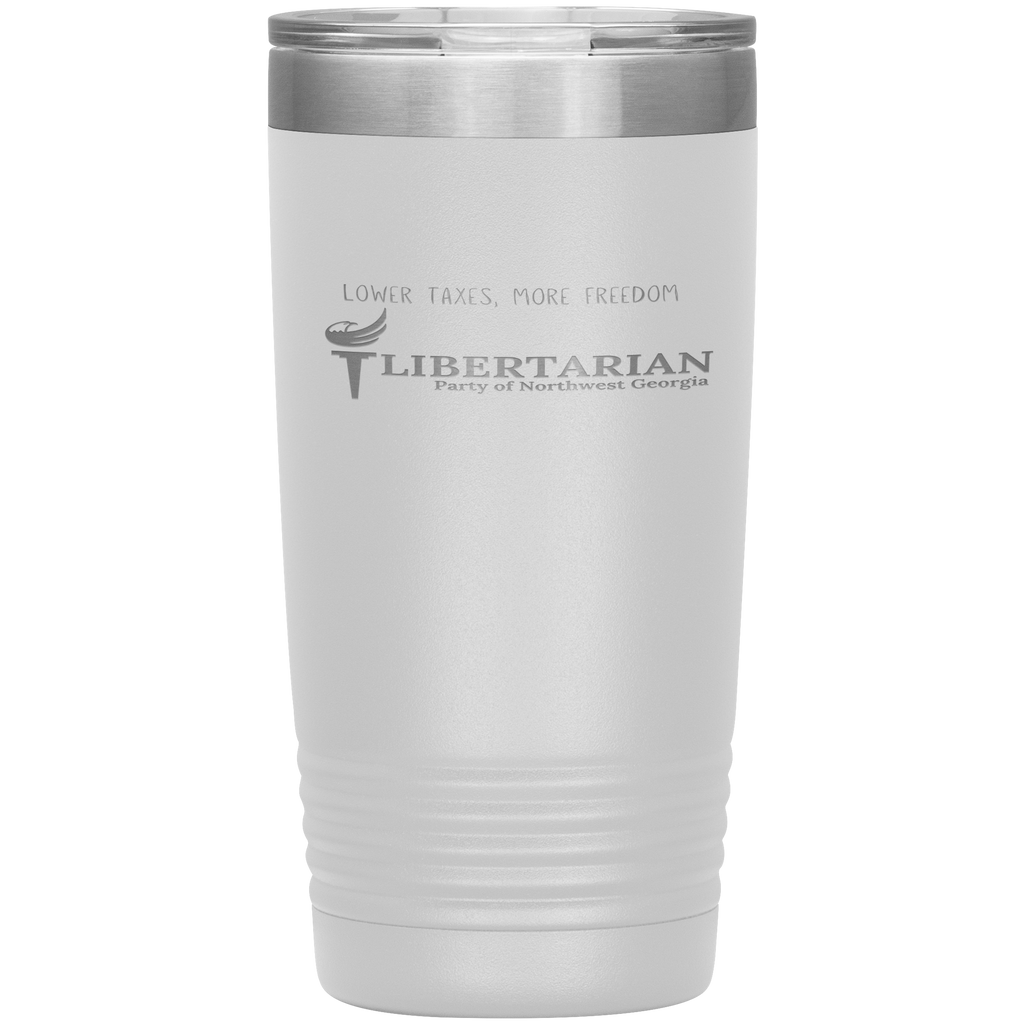 Libertarian Party of Northwest Georgia Tumbler 20oz - Proud Libertarian