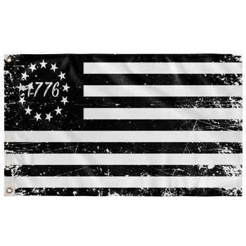 Betsy Ross Flag Black 1776 Distressed wall art 36