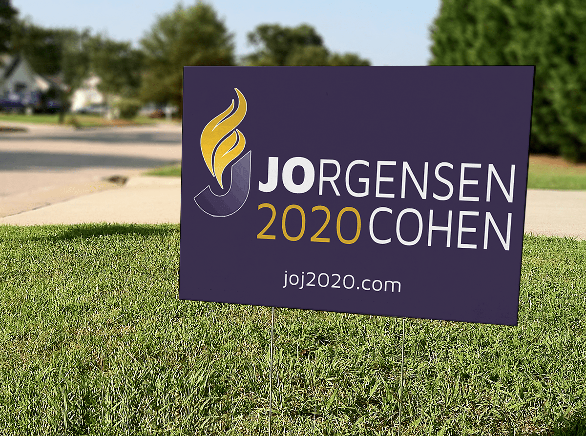 Jo Jorgensen 2020 Yard Sign 18