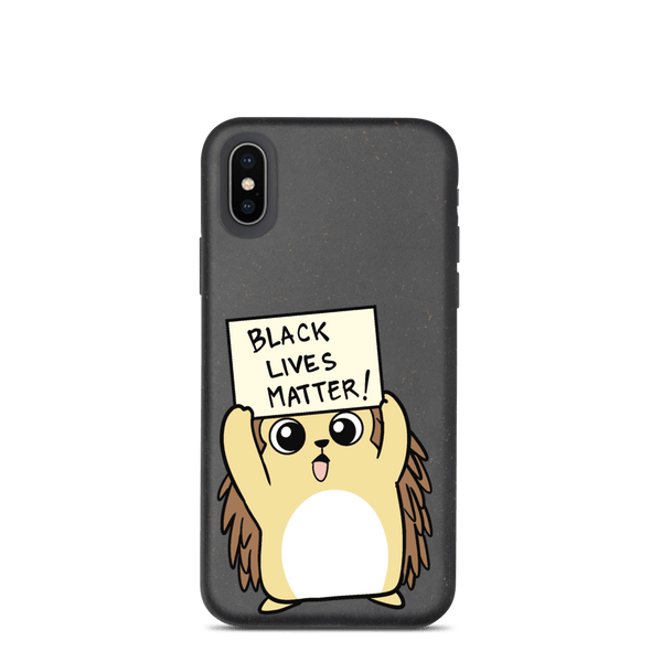 Black Lives Matter Porcupine Cartoon Biodegradable phone case - Proud Libertarian