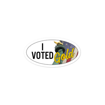 I Voted Gold - Large Vote Stickers (Design 2) - Proud Libertarian