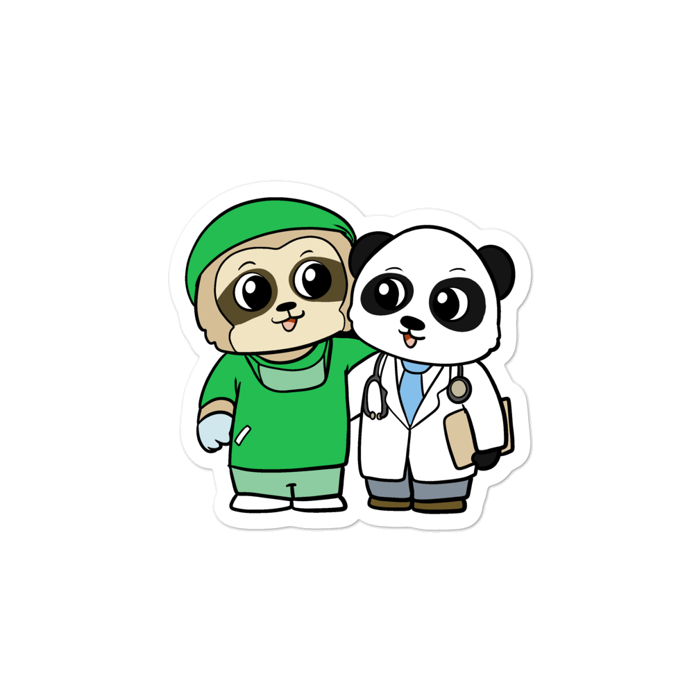 Doctor and Surgeon Cartoon - Bubble-free stickers