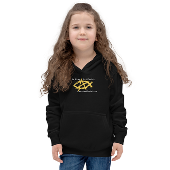 AnarchoChristian No King But Christ - Anarchist Jesus Fish Youth Kids Hoodie - Proud Libertarian