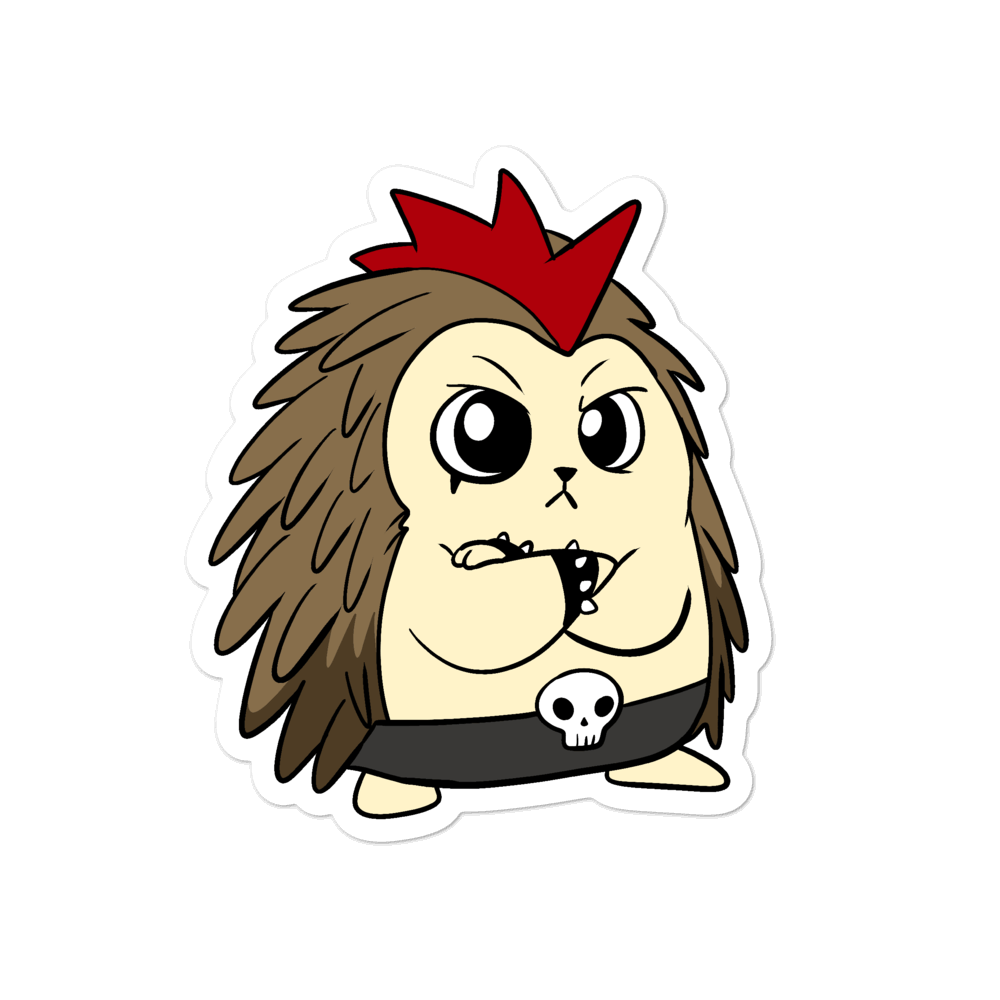 Angry Libertarian Cartoon Porcupine - Bubble-free stickers - Proud Libertarian
