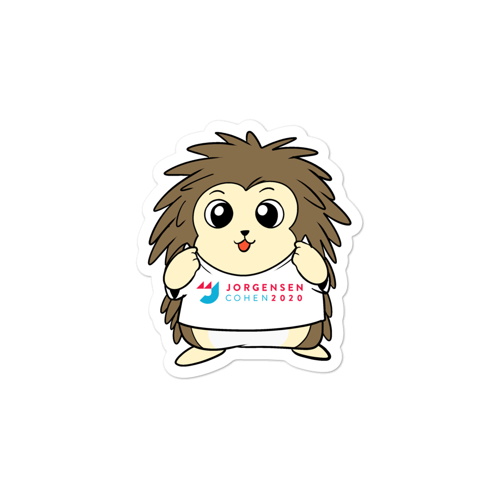 Jorgensen 2020 Cartoon Porcupine - Bubble-free stickers
