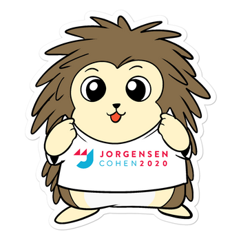 Jorgensen 2020 Cartoon Porcupine - Bubble-free stickers - Proud Libertarian