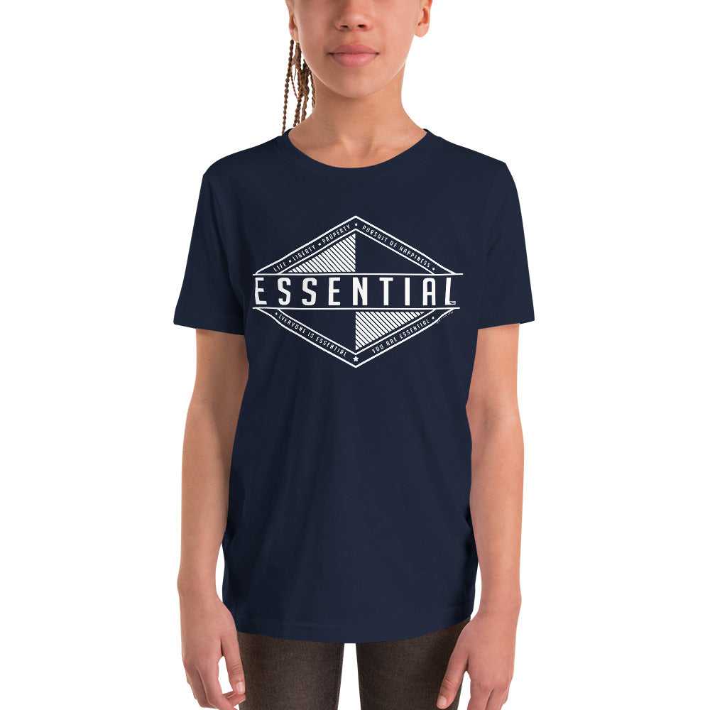 Liberty is Essential - Youth Short Sleeve T-Shirt - Proud Libertarian